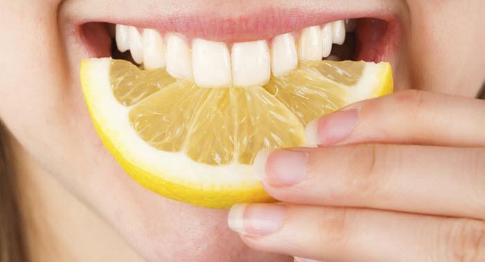 whiten the teeth